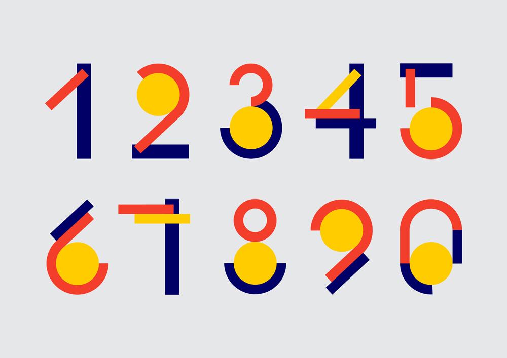 Разработка цифр в стиле конструктивизм