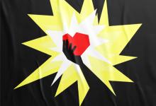 Плакат-Аллегория на тему: Горячее сердце & Холодная голова