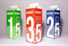 Упаковка для молока с разным процентом жирности
