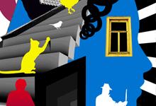 """Иллюстрация-коллаж: """"Дом, который построил Джек"""""""